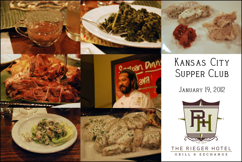 KC Supper Club Samoan Dinner at The Rieger