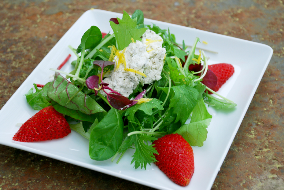 Simple Spring Salad and Mint Pea Soup