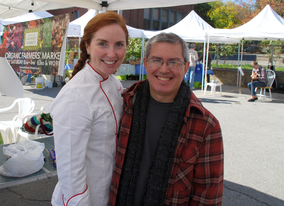 Chef Renee Kelly and Pete Dulin at Brookside Farmers Market