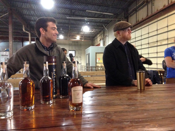 J. Rieger founders Andy Rieger (left) and Ryan Maybee discussed the origins of the brand and method behind their whiskey blended with sherry.