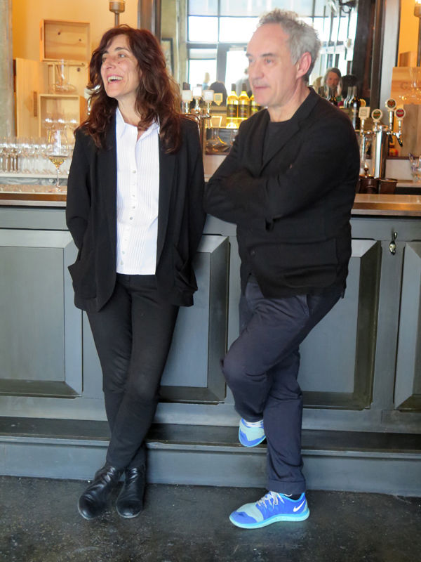 Ferran Adrià and his wife Isabel.