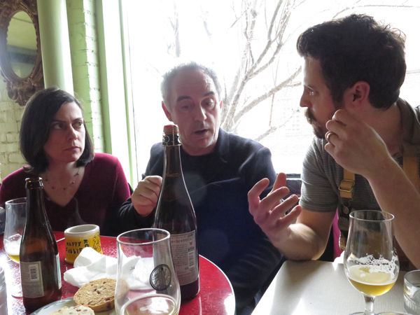 Ferran Adrià and Chef Josh Eans discuss Boulevard's Saison-Brett beer.