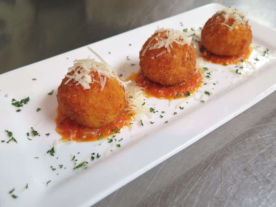 Smoked mac and cheese croquettes.