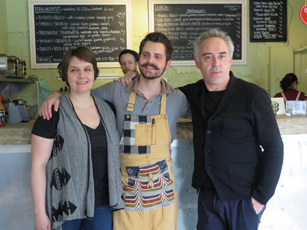 Abbey-Jo Eans, Josh Eans and Chef Ferran Adrià.
