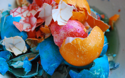 Crushed Easter Egg Shells