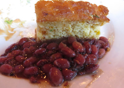 Pork and beans with cornbread