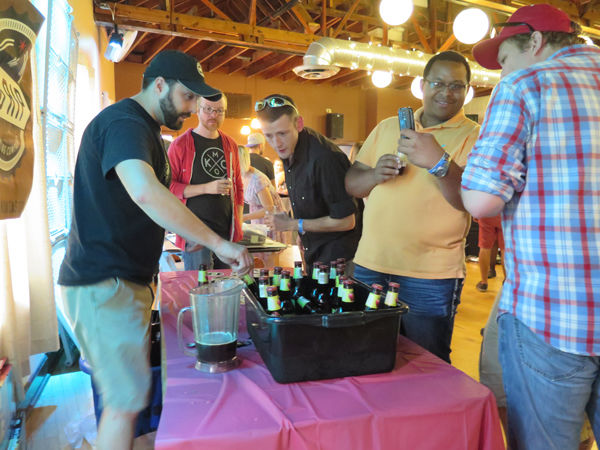 Josh Collins from The Big Rip Brewing Co. pours samples.