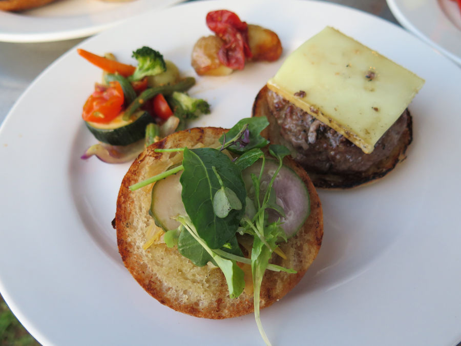 Lamb burger with Prairie Tomme cheese