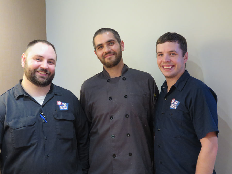 Matt Ruhnke, Chef Lance Gipson, and brewer Brandon Gunn.